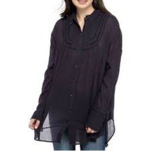 We The Free Amore Amore Blouse Midnight Navy S